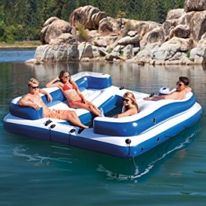Intex Seahawk 4, 4-Person Inflatable Boat Set with Aluminum